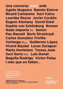 El cartel del València Vibrant en 2014